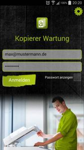 Business App für Kopierer Wartung
